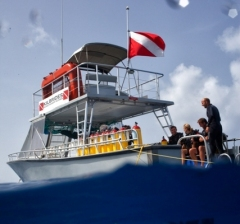 Our dive boat Sunchaser